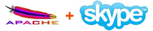Faire fonctionner un serveur Apache avec Skype