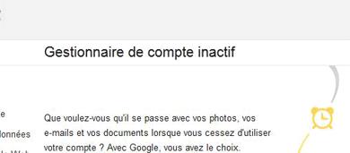 Photo de Google lance son gestionnaire de compte inactif