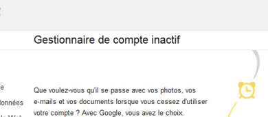 Gestion Compte Inactif Google