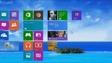 Photo de Afficher l'arrière-plan du bureau sur l'accueil de Windows 8.1