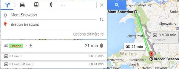 Google Maps : nouveaux moyens de transport
