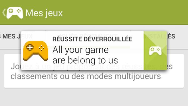 Un Konami Code dans Google Play Jeux