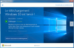 Windows 10 a été réservé et prêt à télécharger