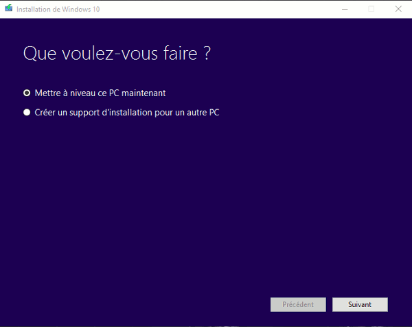Windows 10 : Forcer la mise à jour