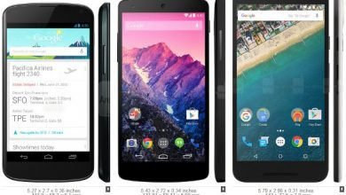 Comparer taille smartphones