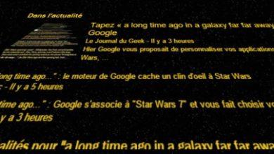 Photo of Générique Star Wars dans la recherche de Google