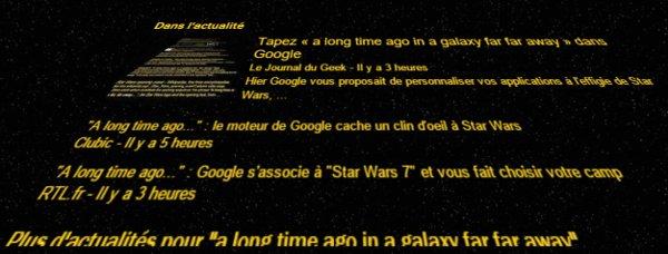 Générique Star Wars dans Google