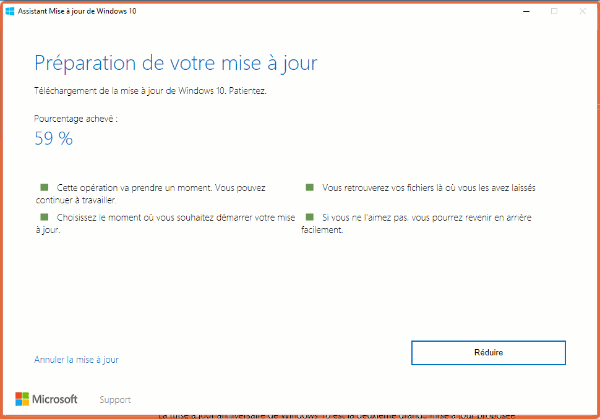 Forcer MAJ Anniversaire Windows 10