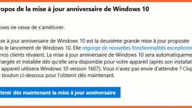 Photo of Windows 10 : mise à jour Anniversaire disponible