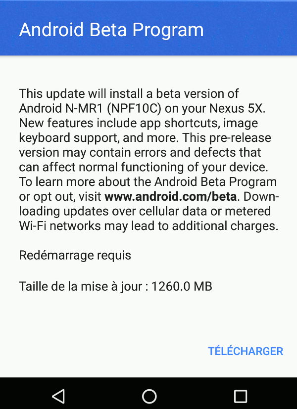 Android-7.1 - Preview 1 disponible