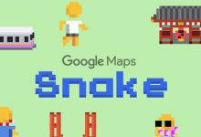 Photo de Jouer à Snake dans Google Maps