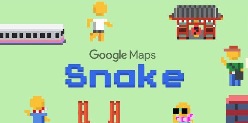Snake dans Google Maps
